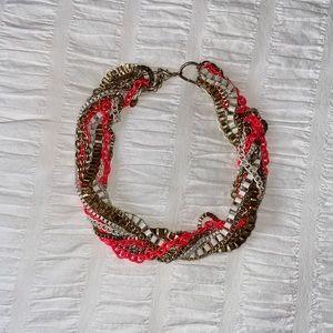 2/$20 🌷Aldo coral gold statement necklace